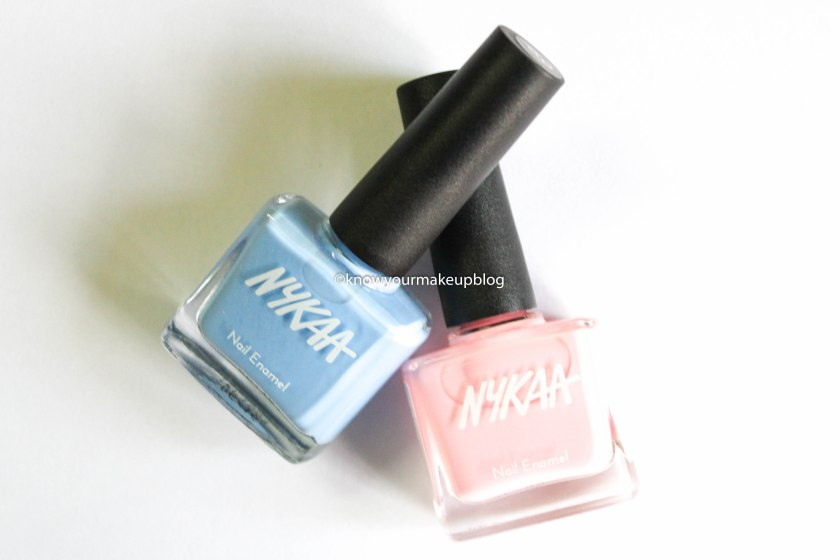 Packaging of Nykaa Pantone Color of the Year Combo Nail Paints Serenity and Rose Quartz