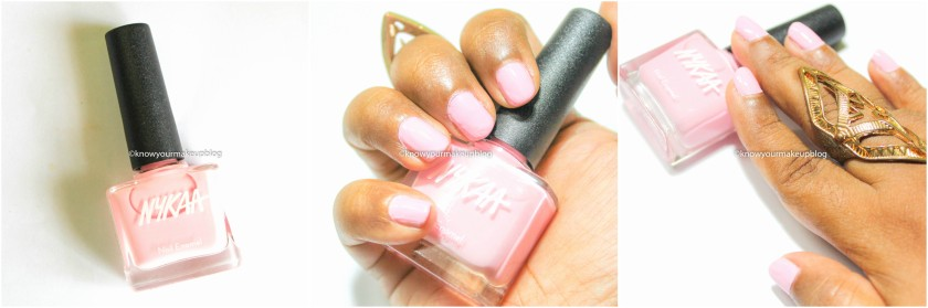 Swatches of Nykaa Pantone Color of the Year Combo Nail Paints Rose Quartz