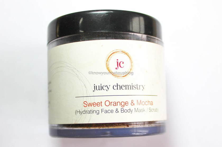 Juicy Chemistry Sweet Orange & Mocha Hydrating Face & Body Mask or Scrub